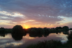 Lazy evening on the river (christianbartlett) Tags: sunset sun colour water sunshine sunrise river outdoors evening lowlight outdoor waterside lowsun rivertrent