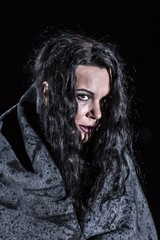 Ekaterina Semenchuk as Azucena in Il trovatore, The Royal Opera  2016 ROH. Photograph by Clive Barda (Royal Opera House Covent Garden) Tags: opera coventgarden theroyalopera production productionphoto verdi iltrovatore bydavidbsch ekaterinasemenchuk actionshot