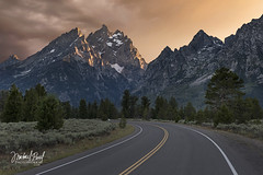 The Grand Drive (facebook.com/michaelpaulphotoworks) Tags: grandtetonnationalpark wyoming road sunset evening peaceful tranquil solitude weather outdoors roadtrip