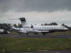 N550TB Cessna Citation CJ2 With HB-JUF Gulfstream G650 Swiss Jet AG (Aircaft @ Gloucestershire Airport By James) Tags: two james airport oxford cessna lloyds gulfstream citation cj2 bizjets g650 egtk hbjuf n550tb