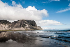 Out of the Ocean (E.Clerc) Tags: ocean nature iceland stokksnes wild water waves clouds nikon landscape sand beach mountain travel