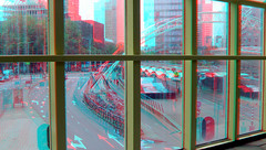 Blaak Rotterdam 3D (wim hoppenbrouwers) Tags: blaak rotterdam 3d anaglyph stereo redcyan kubuswoningen windows cubichouses blom depthography