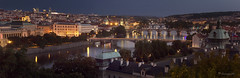 the golden city (cherryspicks (intermittently on/off)) Tags: city architecture panorama buildings bluehour bridge prague czech goldencity urban lights night twilight