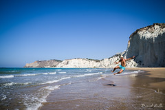 Jump by the sea (DanAie) Tags: jump sea beach scala turchi me
