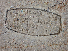 P.J. Hoerr, Peoria, IL (Robby Virus) Tags: peoria illinois philipp hoerr construction concrete company inc sidewalk cement pavement contractor stamp 1987 1914