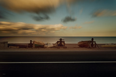 on the way (CROMEO) Tags: boats way road mar sea mediterraneo sunset sunrise morning cabo gata fabriquilla salinas clouds nubes yellow tone cromeo cr photo photography view street barco pesca pesquero long exposure haida filter nikon pic day andalucia spain europe