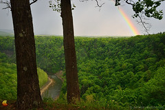 Rainbow at Great Bend of Letchworth  (DTD_3386) (masinka) Tags: genesee river great bend letchworth statepark park public green vegetation lush rainbow storm clouds cloudy trees nature outdoors landscape photography newyork ny castile gorge valley etbtsy