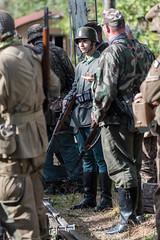 DSC_7403.jpg (john_spreadbury) Tags: ww2 mortar gi homeguard german blacknwhite johnspreadbury reenactment group rifle machinegun stengun cricklade swindon railway troops army english americans uniforms smoke wartime soldiers british