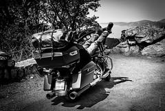 Stop (Fabdub) Tags: pentaxkr harleydavidson motorcycle pentaxblackwhite blackwhite road roadtrip streetglide