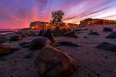 Walnut-Beach-Milford-CT-USA_09202016-80 (Simmo1342) Tags: clouds golden rock sunset colorful connecticut landscape nature northamerica outdoor rocky sandstone scenic sky travel vibrant water dusk dwan beauty