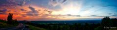 28 aot 2016, 19:38 (rides again) (guysamsonphoto) Tags: guysamson sonyalpha6300 zeiss1635f4 panorama victo victoriaville montarthabaska sunset coucherdesoleil hdr aurorahdrpro