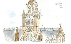 Manchester Town Hall (David Masters) Tags: urbansketching sketch urban pen ink watercolour drawing 2016 manchester usk city symposium england uk