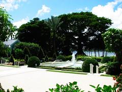 Church Garden (Terry Hassan) Tags: usa florida palmbeach palm flaglermuseum garden fountain tree shrub