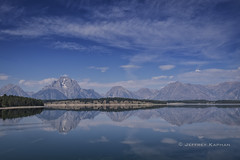 morning reflections.... (J. Kaphan Studios) Tags: fujixt1 gtnp grandtetonnationalpark landscape landscapephotography jacksonhole wyoming mountains clouds bluesky lakes reflections