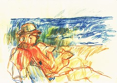 PROYECTO 132-49 (GARGABLE) Tags: angelbeltrn apuntes sketch lpicesdecolores drawings proyecto 132 64 todo varios variado dibujos gargable playa gente siesta sanjuan