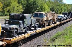 2/2 Military Vehicles 9-17-16 (KansasScanner) Tags: shawnee zarah kansas bnsf railroad train