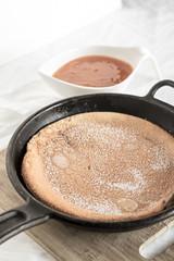 Apricot Dutch Baby Pancake   infinebalance.com #recipe #breakfast (TrishCowper) Tags: breakfast food foodphoto apricot skillet pancake