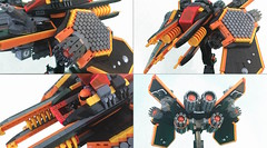 S.S. Helios Details (Siercon and Coral) Tags: lego starship spaceship straighter space helios
