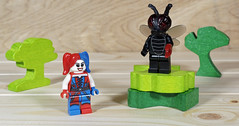 Harley's crotch is getting a little swampy and has started attracting flies (MuTant 99) Tags: home toys lego minifigures harleyquinn flymonster olympusomdm10mkii dxoopticspro11