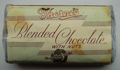 1950s Chocolate Bar (ClydeHouse) Tags: 1950s advertising blendedchocolatewithnuts byandrew chocolate henrythorne henrythornecoltd ladylane leeds museum packaging thornes