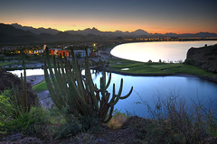 Baja Blues (hapulcu) Tags: bajacalifornia bcs baja mexico mexique desert loreto dusk sunset resort golf cactus