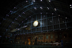 The Clock at St Pancras International Station, London, United Kingdom (topwh) Tags: stpancras st pancras meetingplace meeting place clock dent london stpancrasinternational international eurostar