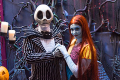 Jack Skellington and Sally (jodykatin) Tags: nightmarebeforechristmas jackskellington sally disneyland facecharacter
