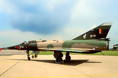 BA-05. Crashed 7 aug. 1988. Engine flame-out during a display flight, the aircraft got into a flat spin and crashed. Pilot killed. Must be one of the last pictures. (Gerrit59) Tags: mirage 5ba