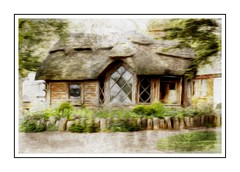 Cute Cottage (Audrey A Jackson) Tags: canon60d charlecotepark warwickshire history cottate smartphotoeditor garden windows roofs trees nature 1001nights