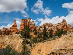 Mossy Cave Trail (Fizzik.LJ) Tags: mountains utah spring usa landscape ut clouds tropic unitedstates us