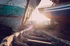*** (Jean24S) Tags: port essaouira maroc bateau chantier barque contrejour coque fujifilm voyage