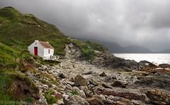 Seaside cottage (Greg Adams Photography) Tags: isleofman iom sea seaside cottage clouds storm travel beach coast rocks hhsc2000 2016 hill
