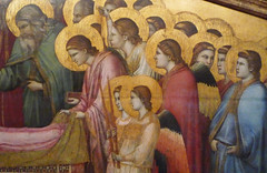 Giotto, The Entombment of Mary, detail right