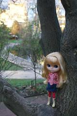 Little doll in a big, big world