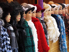 Faces (Batikart) Tags: christmas city winter mannequin colors scarf canon germany festive season geotagged outdoors deutschland colorful europa europe december advent day afternoon market stuttgart patterns decoration tranquility christmasmarket romance collection celebration leisure choice tradition relaxation multicolored markt dummy ursula onsale balaclava assortment enjoyment variation mixture 2012 sander g11 badenwrttemberg largegroupofobjects 100faves woolcap batikart canonpowershotg11