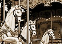 Nostalgie (Seahorse-Cologne) Tags: horses paris france frankreich details carousel monochrom pferde nostalgie carrousel chevaux parigi karusell     tonung