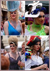 Queens (The Old Brit) Tags: street carnival gay costumes collage glitter liverpool portraits fun drag candid festivals queens glam abfab dragqueens merseyside glitzy liverpoolpride liverpoolgaypride