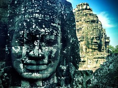Bayon Temple, Cambodia (Rob Sheridan) Tags: travel ruins asia cambodia iphone bayontemple robsheridan iphone5 iphoneography