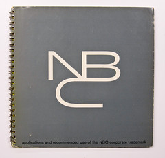 Cover of NBC brand guidelines manual (Herb Lubalin Study Center) Tags: logo nbc manual brandguidelines