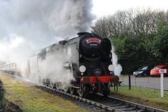 34046 Irwell Vale 21.12.12. (Blackburns Railway Scene) Tags: west country railway class vale east irwell lancs 7p