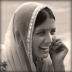 India. Rajasthan, Pushkar, Rajuri the singer.. (lalie sorbet) Tags: portrait people blackandwhite woman eye face sepia canon square noiretblanc femme yeux singer pushkar sorbet rajasthan visage inde carr chanteuse lalie eos60d mygearandme mygearandmepremium
