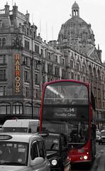 Harrods (Nigel Annison Photography) Tags: travel red england bus london nikon harrods d700