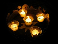 """God so loved... (mudder_bbc) Tags: christmas light hope holidays candles advent adventwreath"