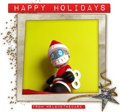 Happy Holidays, Y'all! (welovethedark) Tags: vinyl kidrobot bots iphone arttoys iphonephoto iphonecamera iphonecameraapps kidhohoho holidaykidrobottoy2012