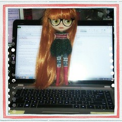 Mellie put on her glasses to help me do my work.