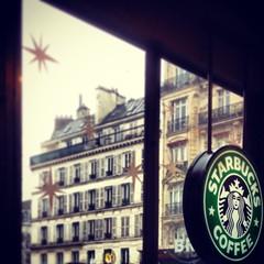 (CMFRIESE) Tags: christmas paris france coffee cafe europe starbucks 2012 iphone instagram