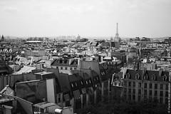 Paris in Black and White (Paris in Four Months) Tags: blackandwhite paris france view eiffeltower centrepompidou viewoverparis