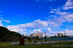 Blue Sky  ( Nana) Tags: blue light sky cloud white love nature beautiful backlight clouds nikon with taiwan  beautifulskyandclouds i  d7000