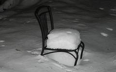Snow on the Chair (blazer8696) Tags: winter two usa snow storm day unitedstates connecticut ct canton 2012 daytwo collinsville ecw freyr dscn3068 t2012
