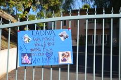 Memorial near Jenni Rivera's home (Steve Rhodes) Tags: la memorial rip jennirivera uploaded:by=flickrmobile flickriosapp:filter=nofilter ripjennirivera jenniriverarip